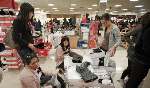 Macy's Leads Industrywide Shoe Expansion on 50% Margins
