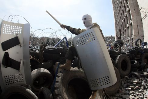 Pro-Russian Activists in Donetsk