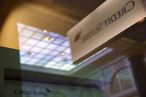 A Logo Sits Outside Credit Suisse AG's Headquarters