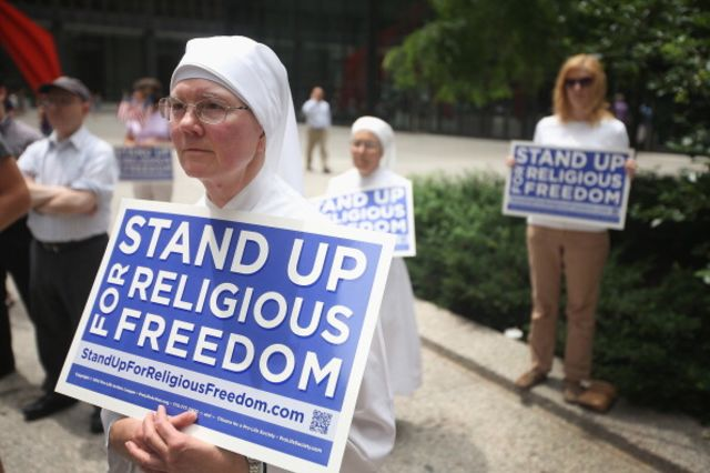 Does standing up for religious freedom mean discriminating against gay people?