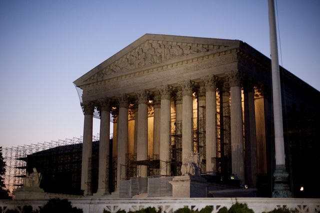 The Supreme Court will go a few extra rounds tomorrow, with each side on the Hobby Lobby case getting an extra 15 minutes.Photographer: Andrew Harrer/Bloomberg