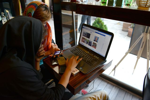 """Some Iranians are """"friends"""" with Facebook.Photographer: Kaveh Kazemi/Getty Images"""