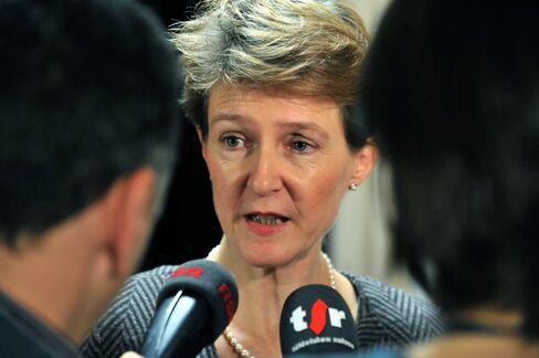 Switzerland's Justice Minister Simonetta Sommaruga
