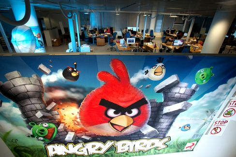 Angry Birds at the headquarters of Rovio Mobile Oy in Espoo, Finland. Photographer: Henrik Kettunen/Bloomberg