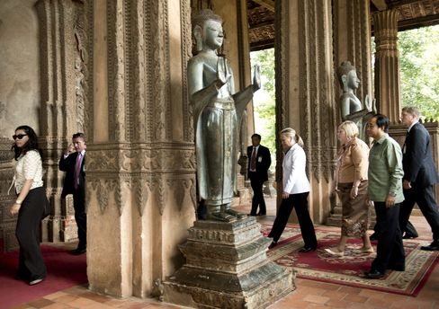 US Secretary of State Hillary Clinton in Laos