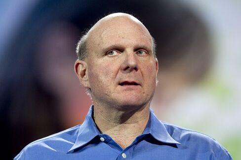 Steve Ballmer, chief executive officer of Microsoft Corp