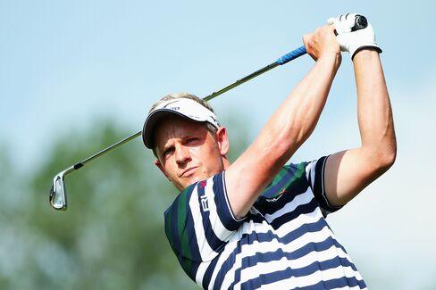 Golfer Luke Donald of England