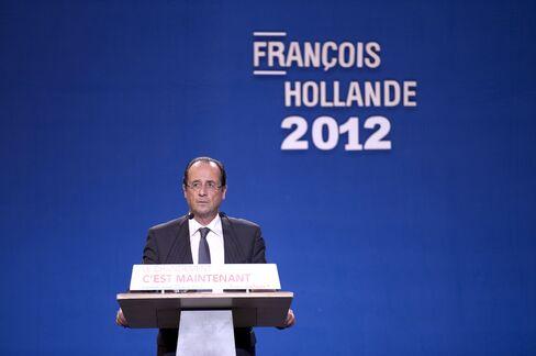 France's Socialist Party Candidate Francois Hollande