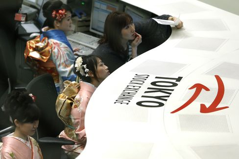 Japan Exchange Plunges on First Day of TSE Trading