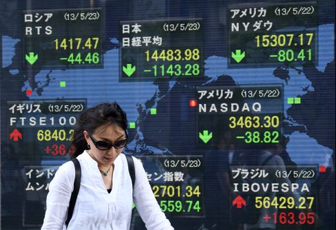 Japan Shares Extend Two-Day Loss as Kuroda Says Stimulus Enough