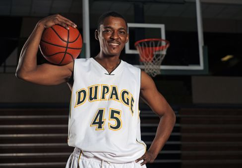 Jermaine Townes, a Basketball Player for College of DuPage
