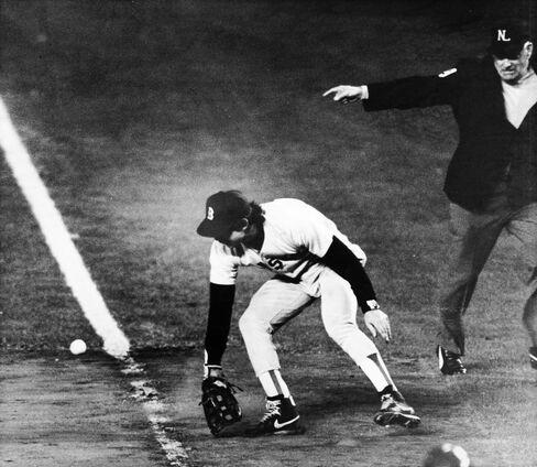 Bill Buckner of the Boston Red Sox
