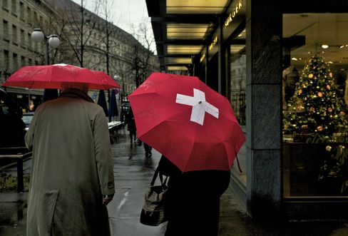 Swiss Stores Seeing Sales Fall Most in 15 Years on Euro