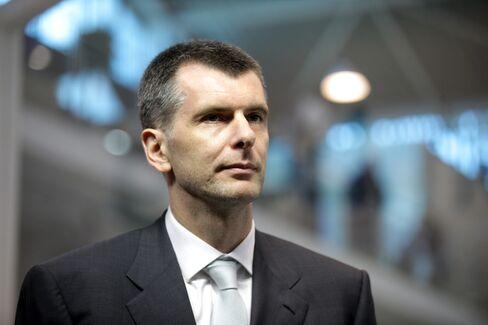 Billionaire Mikhail Prokhorov
