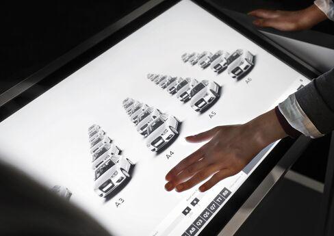 Build-Your-Own Audi on Giant Screens Ups Ante in Urban-Buyer Bid