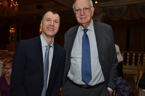 James Volcker, a grants manager at Dana-Farber Cancer Institute, and his father,
