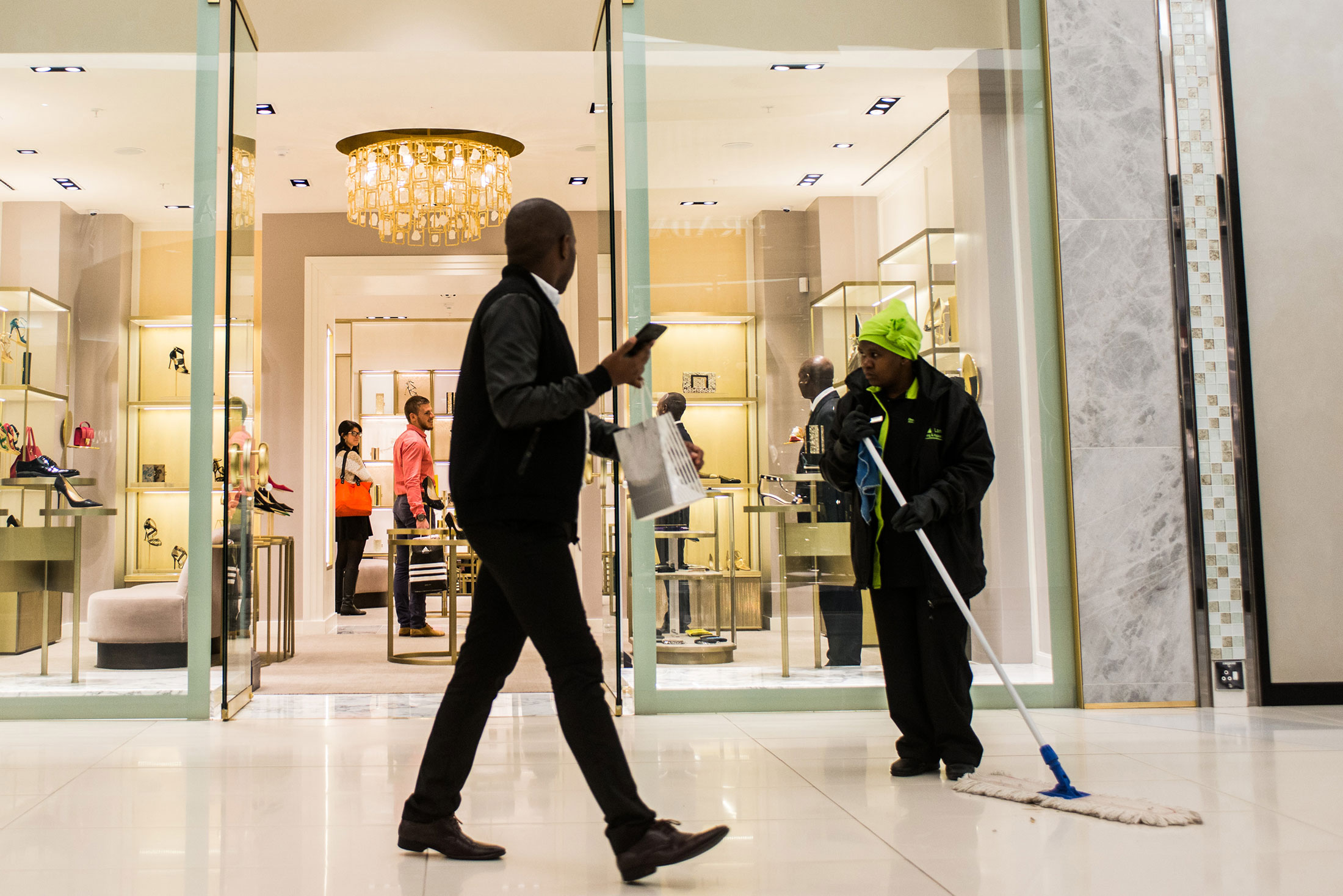 Africa's Diamond Walk Is Home to Prada, Zegna, a Few Buyers