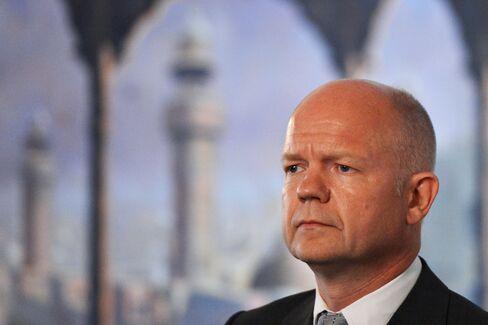 U.K. Foreign Secretary William Hague