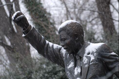 Statue of Former South African President Nelson Mandela