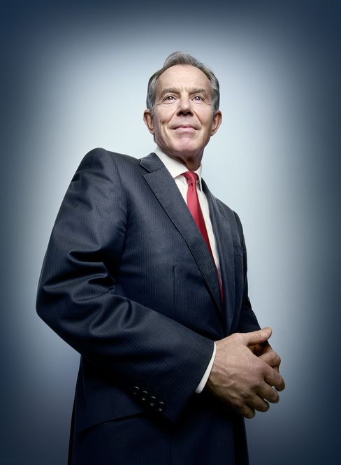 Tony Blair, 59, has reinvented himself as a dealmaker, globe-trotting adviser and philanthropist, presiding over a network of companies and charities that operate in more than 20 countries. Photographer: Platon/Bloomberg Markets