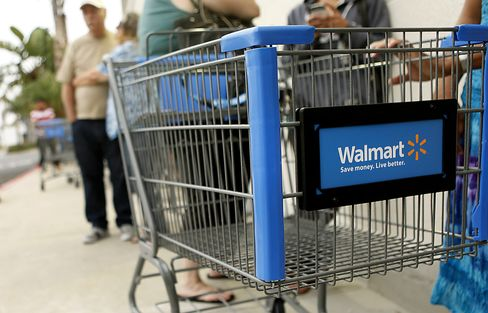 Wal-Mart Targets Web Sales With Lockers, Mobile App Technology