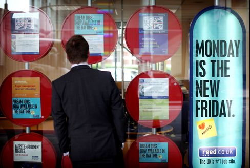 U.K. Unemployment Claims Rise at Fastest Pace Since May 2009