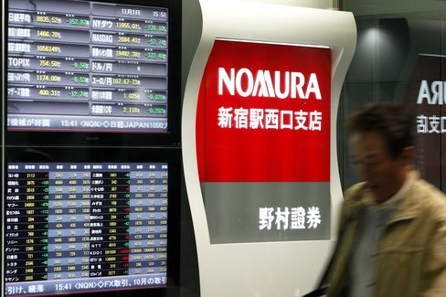 Nomura Raises Top Managers' Pay 79%