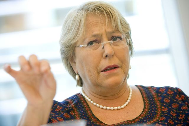Chilean President Michelle Bachelet, a leftist who gets it right. Photographer: Scott Eells/Bloomberg