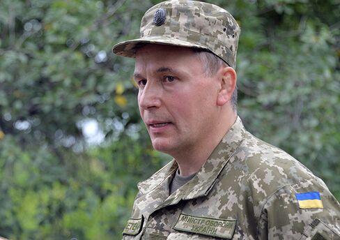 Ukraine's Defense Minister Valeriy Geletey