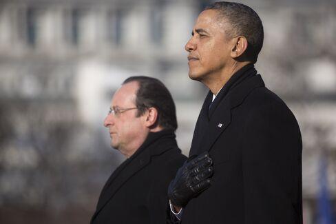 U.S. President Obama and France's President Hollande