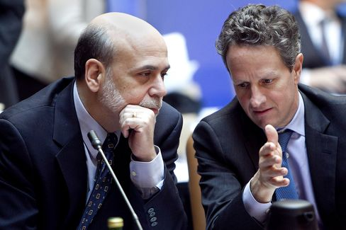 Geithner, Bernanke Worried by EU Banks, Finland's Katainen Says