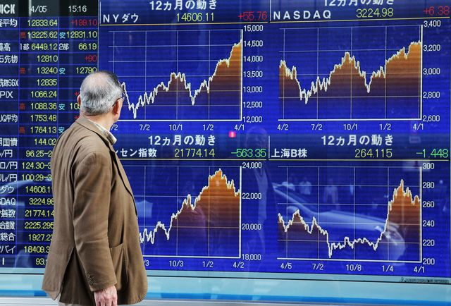 Buying by the government pension fund could drive the Nikkei higher once again. Photographer:Junko Kimura/Bloomberg