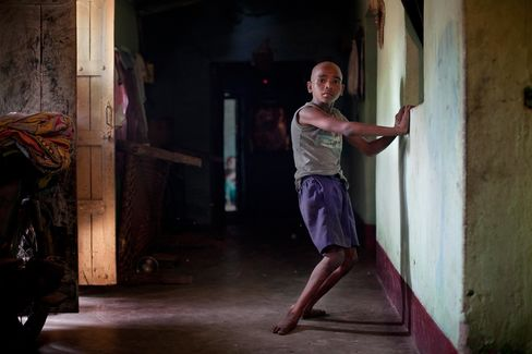 Ten-year-old Sanjay Gope of Bango village near Jadugora moved normally as a toddler until seizures began to wring the life from his arms and legs. When there is no family member around to assist him in walking, he is