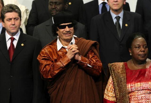 Muammar Qaddafi, equity derivatives trader.Photographer: Suzanne Plunkett/Bloomberg News