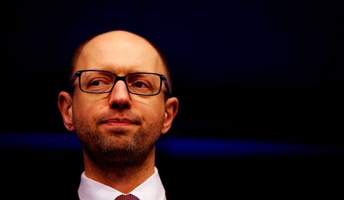 """Ukrainian Prime Minister Arseniy Yatsenyuk said, """"I want to be very clear: Crimea was, is and will be an integral part of Ukraine. No concessions. Full stop."""" Photographer: Dean Mouhtaropoulos/Getty Images"""