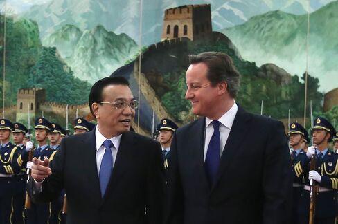 China's Premier Li Keqiang & U.K. Prime Minister David Cameron