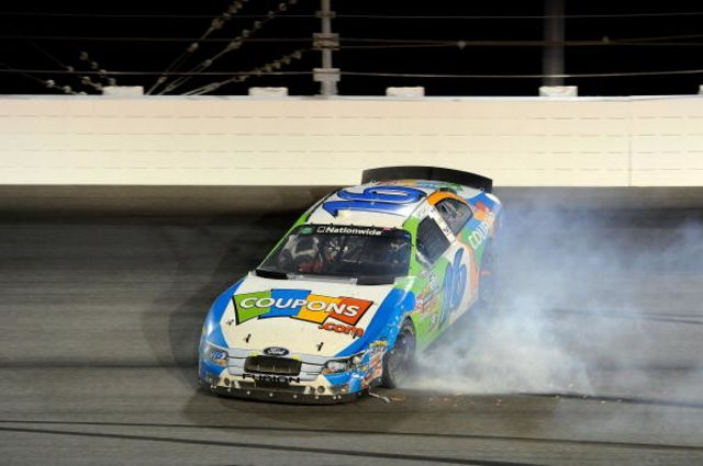 On an adjusted basis, this car was the winner. Photographer: John Harrelson/Getty Images for NASCAR
