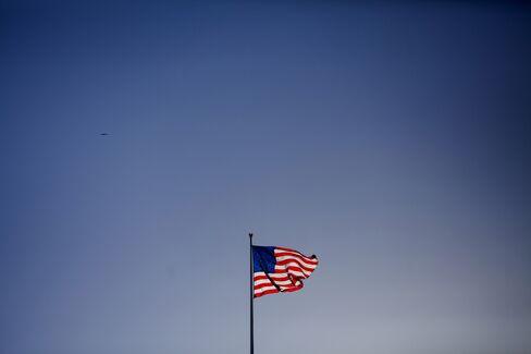 U.S. Flag Flies in San Diego