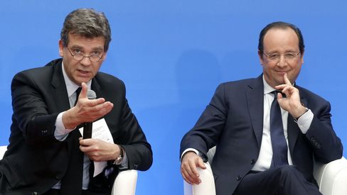 Francois Hollande and Arnaud Montebourg