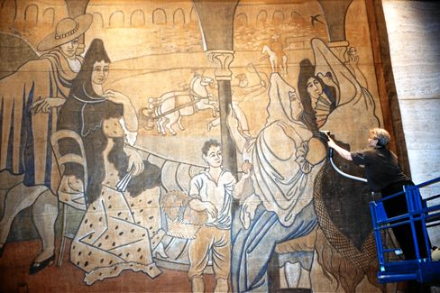 A 1919 Pablo Picasso Stage Curtain