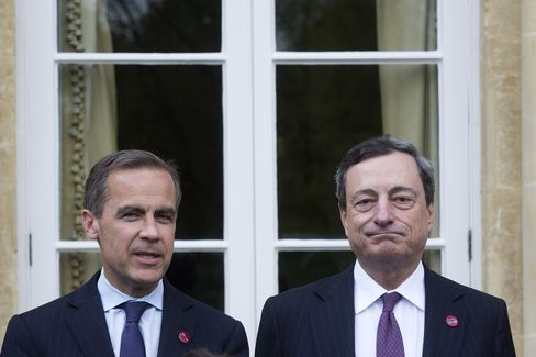 BOE Governor Mark Carney and ECB President Mario Draghi