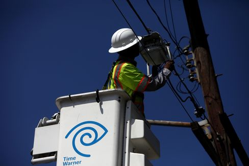 A Time Warner Cable Inc. Technician