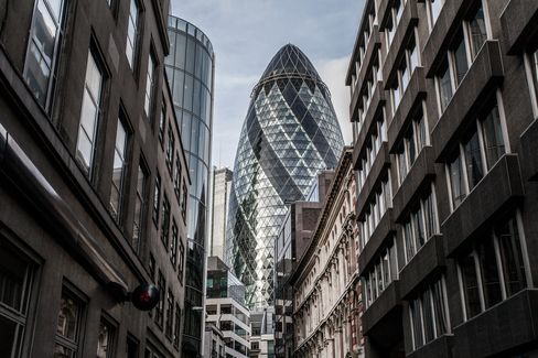 The 30 St Mary Axe building, popularly known as