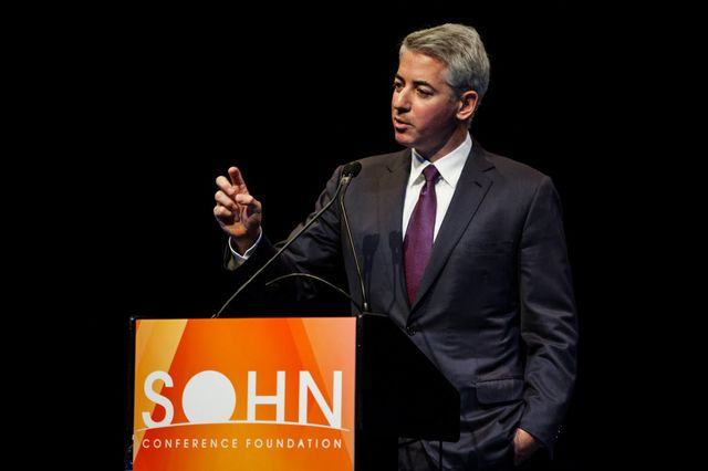Hedge-fund manager Bill Ackman speaking at the Sohn Conference.  Photographer: Chris Goodney/Bloomberg