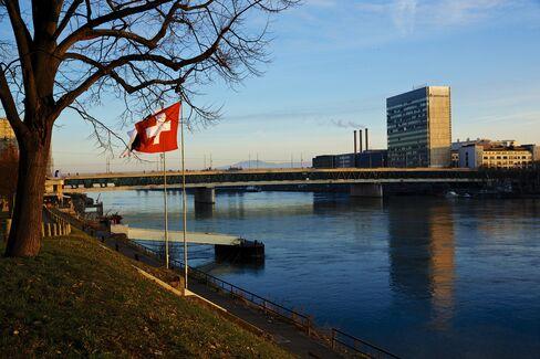 A Swiss Flag Flies Near Novartis AG Headquarters In Basel