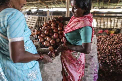 Onions at Wholesale Market