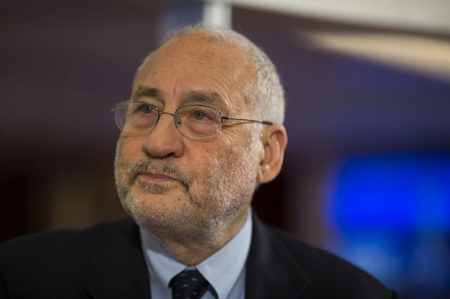 Joseph Stiglitz. I think a paradox would be the best thing to have named after me. Photographer: Jerome Favre/Bloomberg