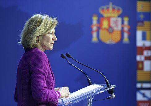 Spanish Finance Minister Elena Salgado