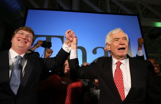 Incumbent Senator Thad Cochran of Mississippi had to pull out all thestops to head off a Tea Party challenger.