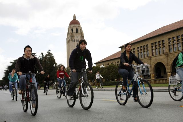 Less investment in coal, more bikes at Stanford.Photographer: Erin Lubin/Bloomberg